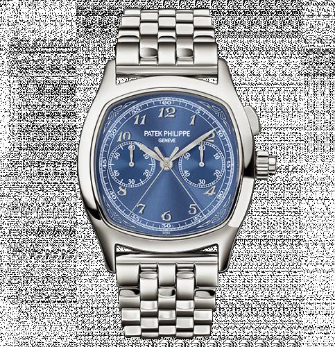Patek Philippe 5950/1A-010 : Split-Seconds Chronograph 5950 Stainless Steel / Blue / Bracelet