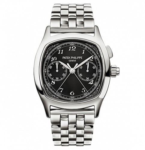 5950/1A-012 : Patek Philippe Split-Seconds Chronograph 5950 Stainless Steel / Black / Bracelet