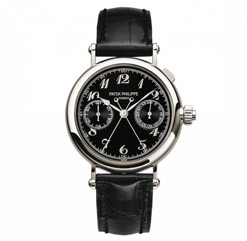 Patek Philippe 5959P-011 : Split-Seconds Chronograph 5959 Platinum / Black