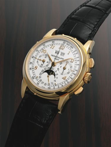 Patek Philippe 5970R-EC : Perpetual Calendar Chronograph 5970 Rose Gold / Silver Breguet