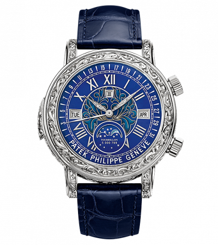 Patek Philippe 6002G-001 : Sky Moon Tourbillon 6002 White Gold / Blue
