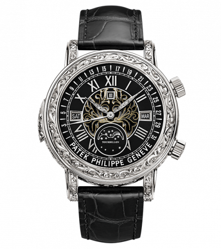 6002G-010 : Patek Philippe Sky Moon Tourbillon 6002 White Gold / Black