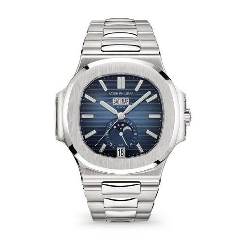 Patek Philippe 5726/1A-014 : Nautilus 5726 Stainless Steel / Blue