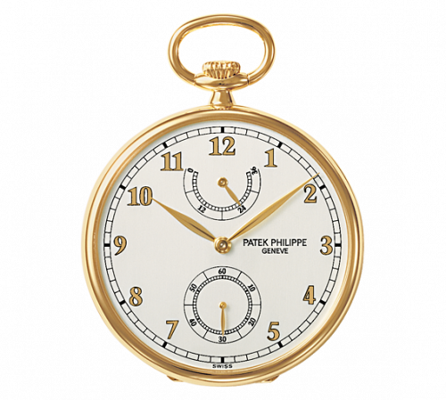 972/1J-010 : Patek Philippe Pocket Watch Lepine Power Reserve Yellow Gold / White