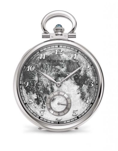 Patek Philippe 995/102G : Pocket Watch Lepine White Gold / First Steps on the Moon