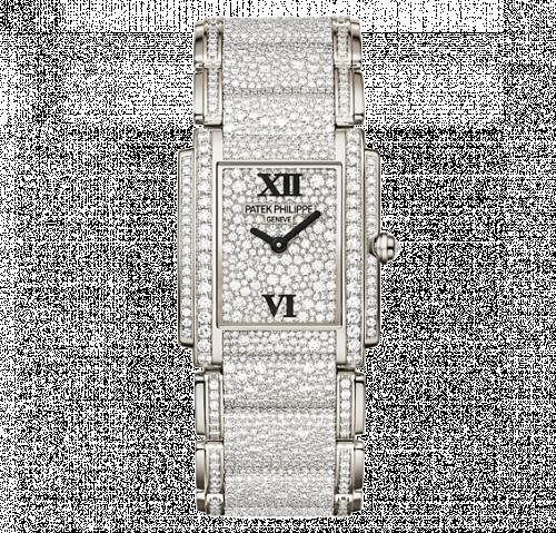 Patek Philippe 4910/52G-001 : Twenty~4 4910 White Gold Gridless Diamond