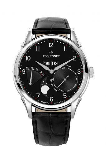 Pequignet 9030443CN : Royale Grand Sport Moonphase Black