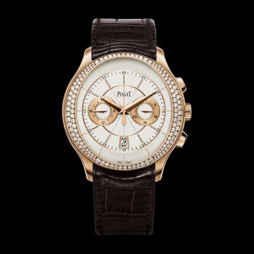 Piaget G0A39115 : Gouverneur Chronograph Pink Gold Diamond