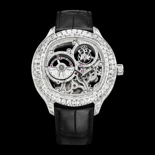 G0A39039 : Piaget Emperador Coussin Tourbillon Skeleton White Gold Diamond