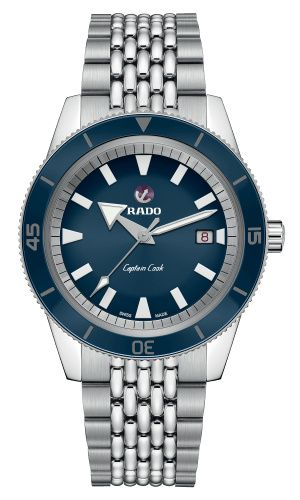 Rado R32505203 : HyperChrome Captain Cook 42 Stainless Steel / Blue / Bracelet
