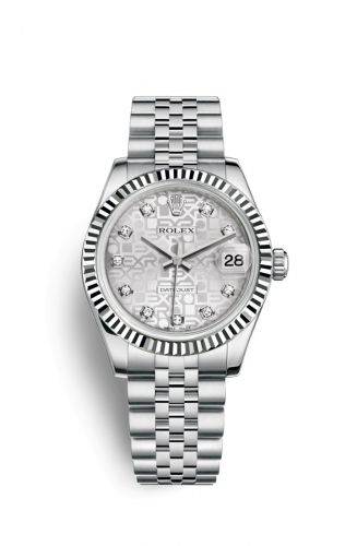 Rolex 178274-0017 : Datejust 31 Stainless Steel Fluted / Jubilee / Silver Computer