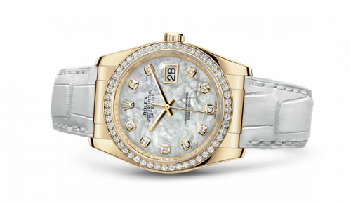 Rolex 116188-0091 : Datejust 36 Yellow Gold Diamond Strap Mother of Peaerl