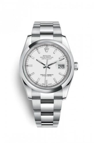 Rolex 116200-0058 : Datejust 36 Stainless Steel Domed / Oyster / White