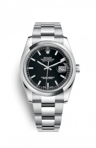Rolex 116200-0059 : Datejust 36 Stainless Steel Domed / Oyster / Black