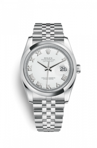 Rolex 116200-0070 : Datejust 36 Stainless Steel  Domed / Jubilee / White Roman