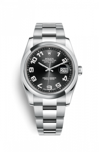 Rolex 116200-0078 : Datejust 36 Stainless Steel Domed / Oyster / Black Arabic