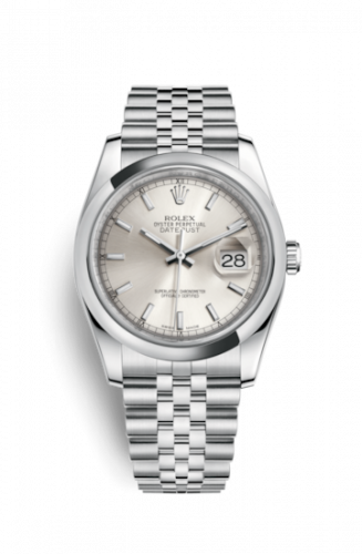 116200-0084 : Rolex Datejust 36 Stainless Steel Domed / Jubilee / Silver