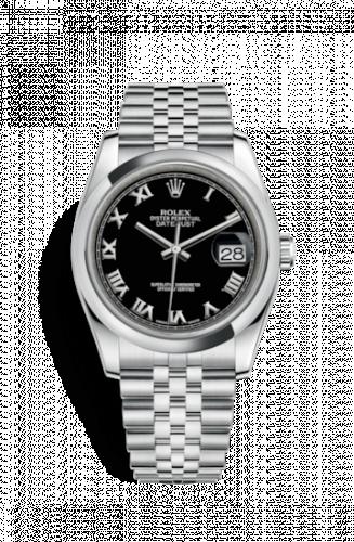 Rolex 116200-0094 : Datejust 36 Stainless Steel Domed / Jubilee / Black Roman