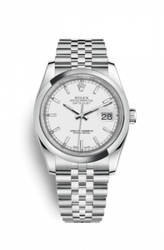 Rolex 116200-0100 : Datejust 36 Stainless Steel Domed / Jubilee / White