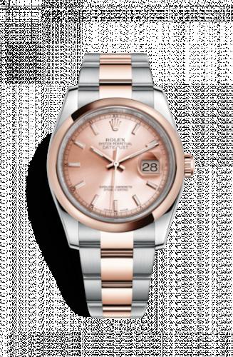 Rolex 116201-0059 : Datejust 36 Rolesor Everose Domed / Oyster / Pink