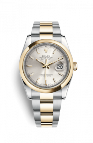 Rolex 116203-0131 : Datejust 36 Rolesor Yellow Domed / Oyster / Silver
