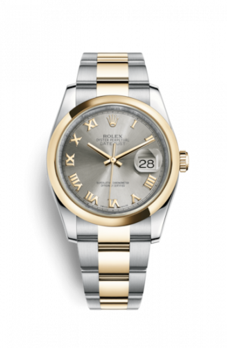Rolex 116203-0137 : Datejust 36 Rolesor Yellow Domed / Oyster / Steel Roman