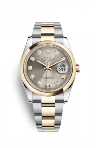 Rolex 116203-0138 : Datejust 36 Rolesor Yellow Domed / Oyster / Steel Diamonds