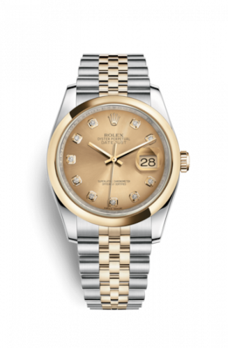 Rolex 116203-0140 : Datejust 36 Rolesor Yellow Domed / Jubilee / Champagne Diamonds