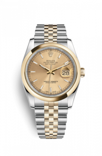 Rolex 116203-0142 : Datejust 36 Rolesor Yellow Domed / Jubilee / Champagne