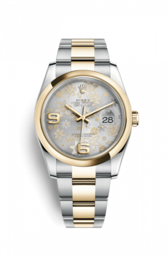 Rolex 116203-0146 : Datejust 36 Rolesor Yellow Domed / Oyster / Silver Floral