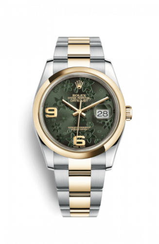 Rolex 116203-0147 : Datejust 36 Rolesor Yellow Domed / Oyster / Green Floral