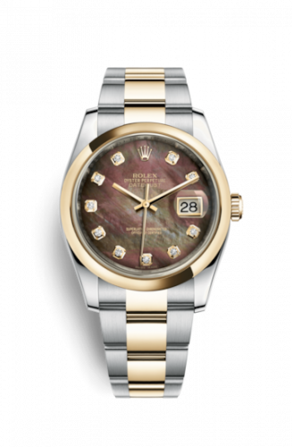 Rolex 116203-0149 : Datejust 36 Rolesor Yellow Domed / Oyster / Brown MOP
