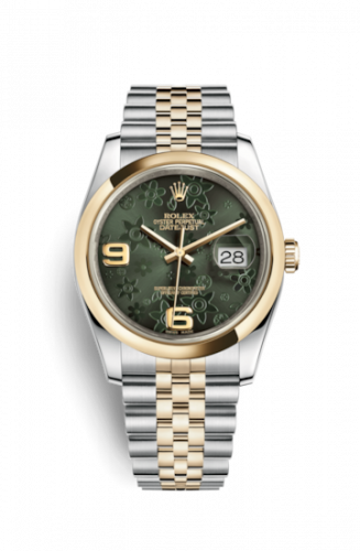 Rolex 116203-0162 : Datejust 36 Rolesor Yellow Domed / Jubilee / Green Floral