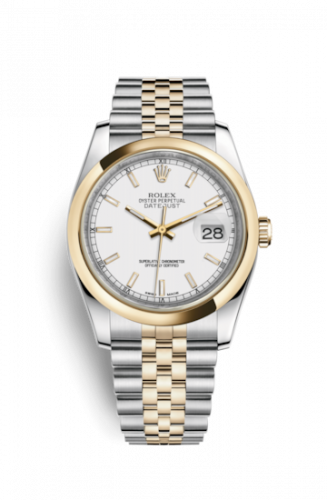 Rolex 116203-0165 : Datejust 36 Rolesor Yellow Domed / Jubilee / White