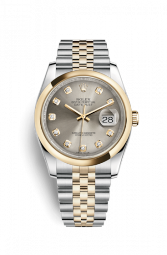 Rolex 116203-0169 : Datejust 36 Rolesor Yellow Domed / Jubilee / Steel Diamonds