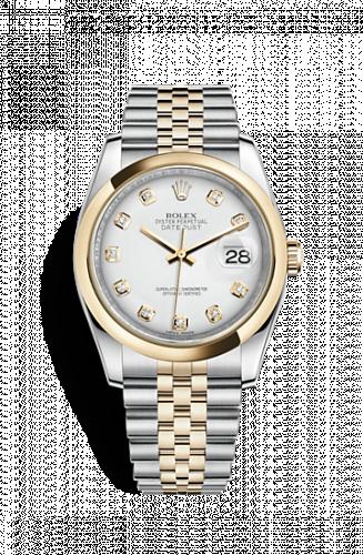 Rolex 116203-0175 : Datejust 36 Rolesor Yellow Domed / Jubilee / White Diamond