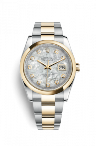 Rolex 116203-0189 : Datejust 36 Rolesor Yellow Domed / Oyster / MOP