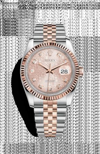 Rolex 116231-0058 : Datejust 36 Rolesor Everose Fluted / Jubilee / Pink Computer
