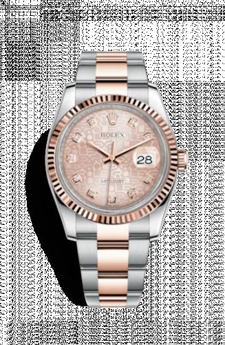 Rolex 116231-0076 : Datejust 36 Rolesor Everose Fluted / Oyster / Pink Computer