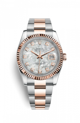 Rolex 116231-0079 : Datejust 36 Rolesor Everose Fluted / Oyster / MOP