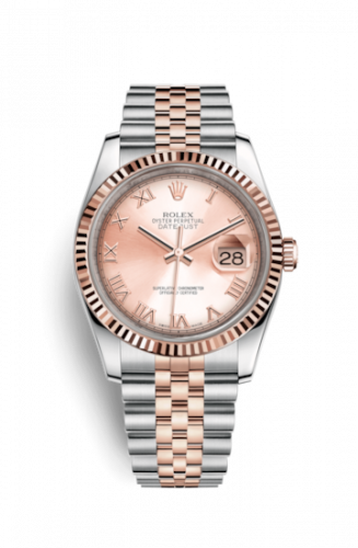 Rolex 116231-0089 : Datejust 36 Rolesor Everose Fluted / Jubilee / Pink Roman