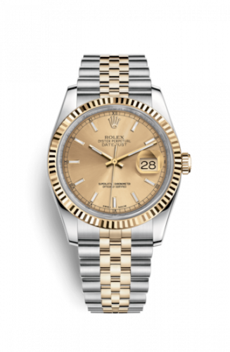 Rolex 116233-0151 : Datejust 36 Rolesor Yellow Fluted / Jubilee / Champagne