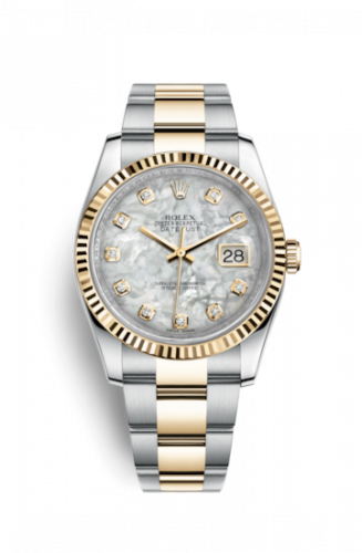 Rolex 116233-0167 : Datejust 36 Rolesor Yellow Fluted / Oyster / MOP