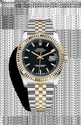 Rolex 116233-0199 : Datejust 36 Rolesor Yellow Fluted / Jubilee / Black