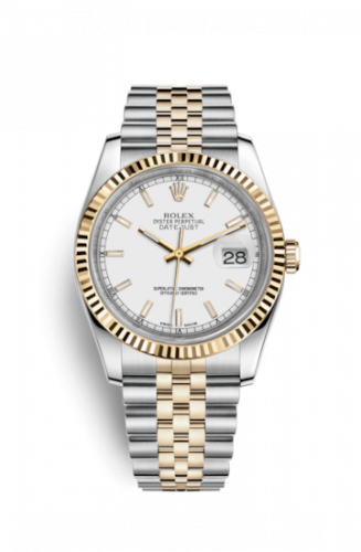 Rolex 116233-0200 : Datejust 36 Rolesor Yellow Fluted / Jubilee / White