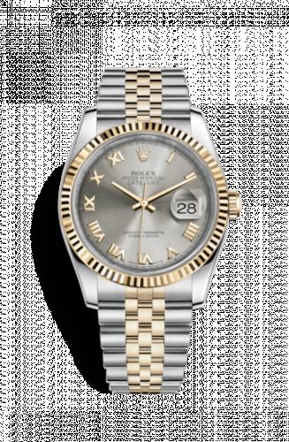 Rolex 116233-0204 : Datejust 36 Rolesor Yellow Fluted / Jubilee / Steel Roman