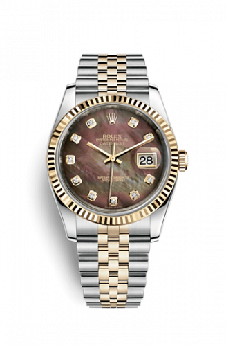 Rolex 116233-0212 : Datejust 36 Rolesor Yellow Fluted / Jubilee / Black MOP