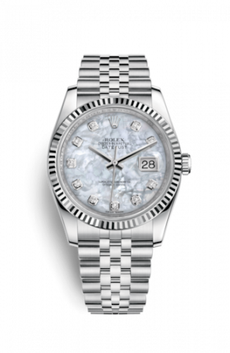 Rolex 116234-0078 : Datejust 36 Stainless Steel Fluted / Jubilee / MOP