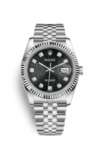 Rolex 116234-0079 : Datejust 36 Stainless Steel Fluted / Jubilee / Black Computer