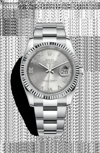 Rolex 116234-0092 : Datejust 36 Stainless Steel Fluted / Oyster / Rhodium Roman